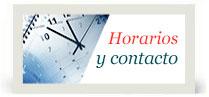 Horarios y contacto