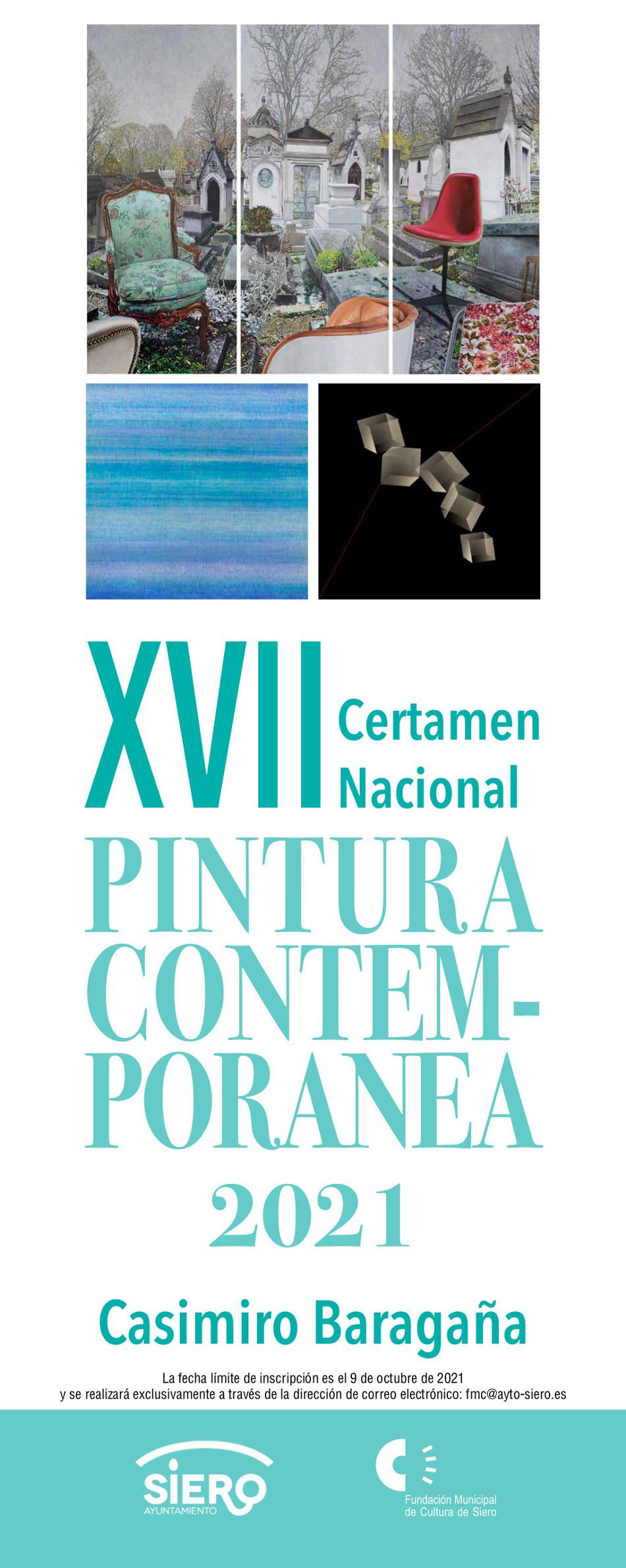 Cartel XVII Certamen Pintura Contemporánea Casimiro Baragaña